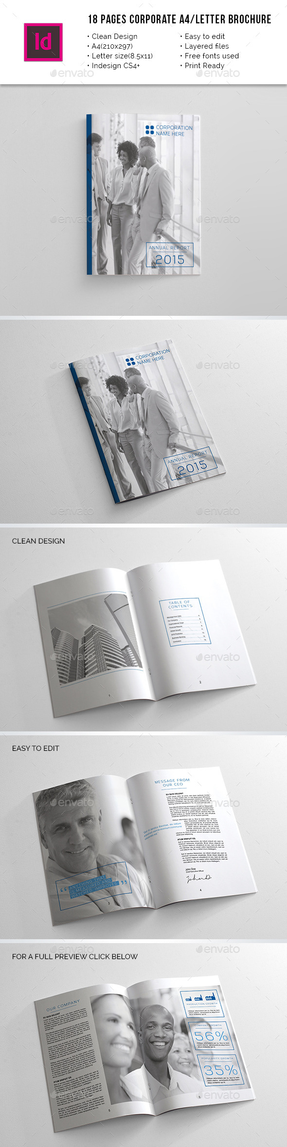 Corporate A4 / Letter Annual Report - Corporate Brochures