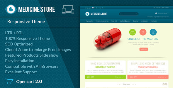 Medicine – Pharmacy Opencart Theme