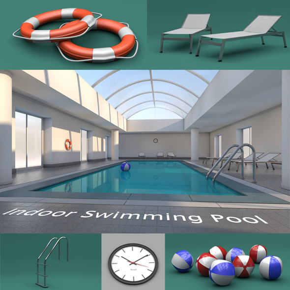 Indoor Swimming Pool - 3DOcean Item for Sale