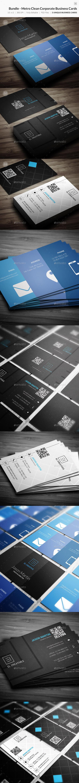 Bundle - Metro Clean Corporate Business Cards - 76 - Corporate Business Cards