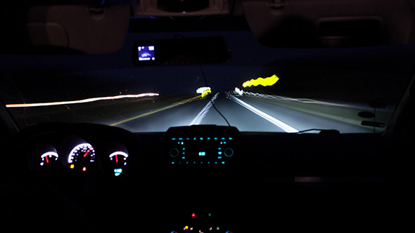 Driving A Car On Night Road By Grey Coast Media Videohive