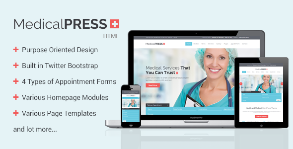 MedicalPress – Health and Medical HTML Template