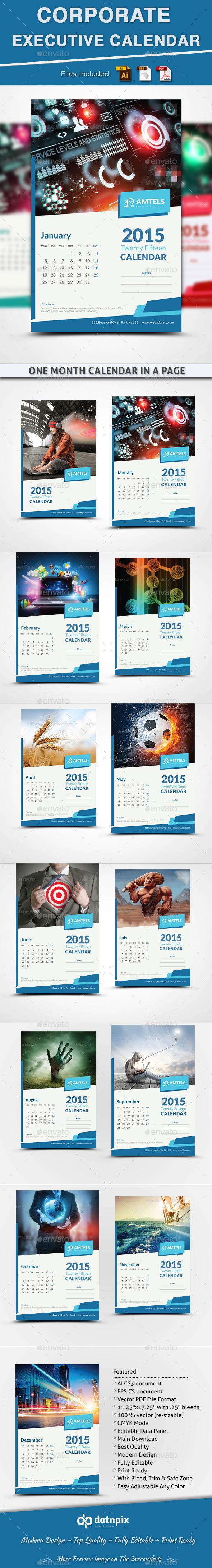 Corporate Executive Calendar - Calendars Stationery