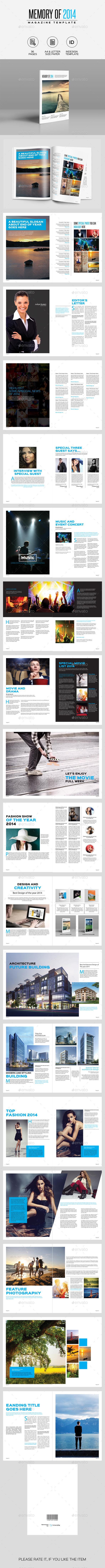 Memory of 2014 Magazine - Magazines Print Templates