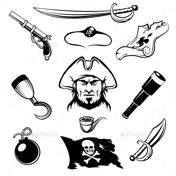Pirate Icons - Web Elements Vectors