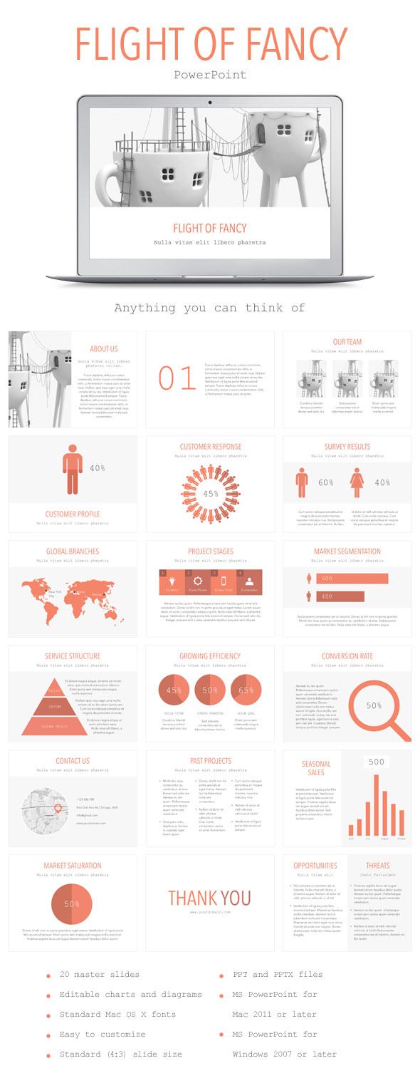 Flight of Fancy PowerPoint Template - PowerPoint Templates Presentation Templates