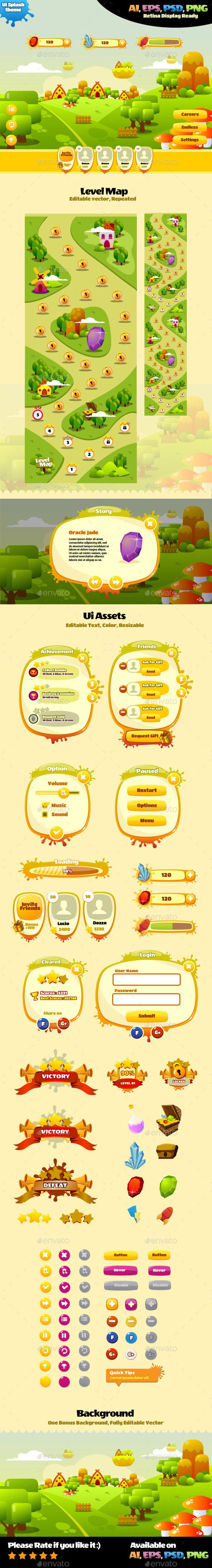 Ui Splash Theme - User Interfaces Game Assets