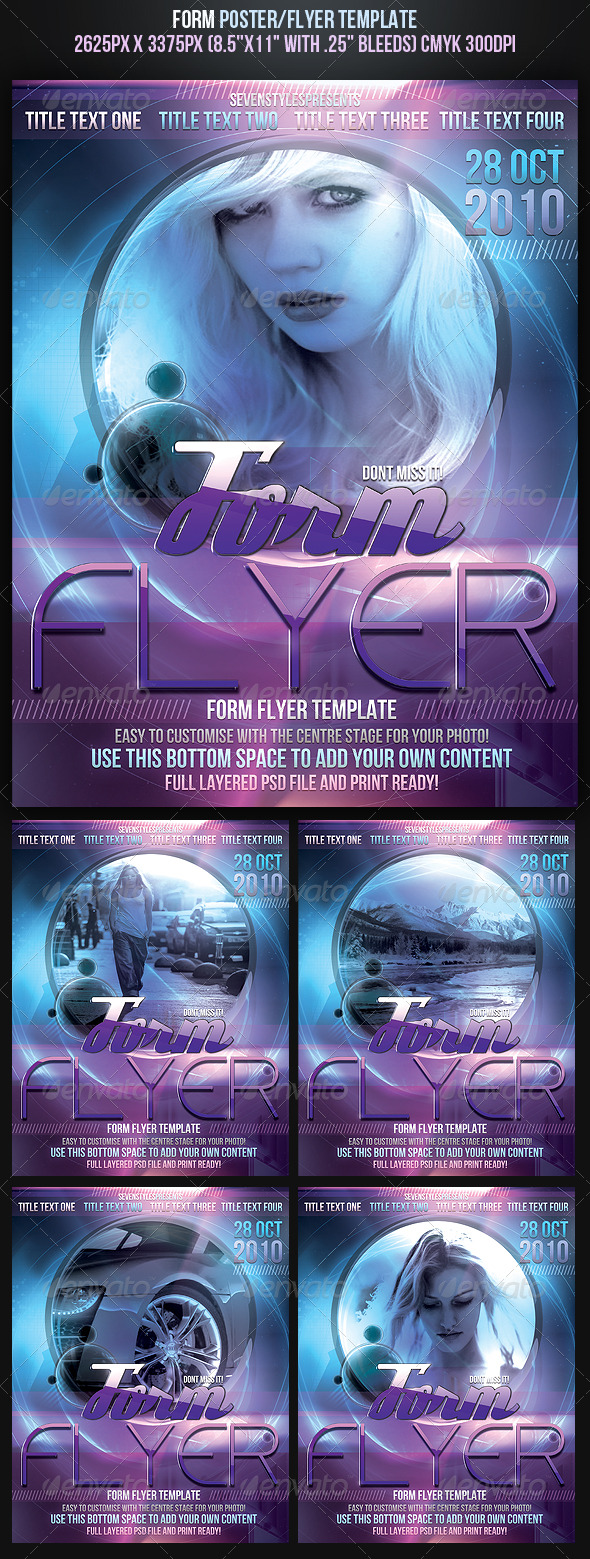 Form Poster/Flyer Template - Clubs & Parties Events