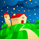 Night Background with Farm - GraphicRiver Item for Sale