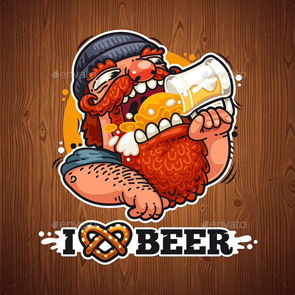 Man Loves Beer - People Characters