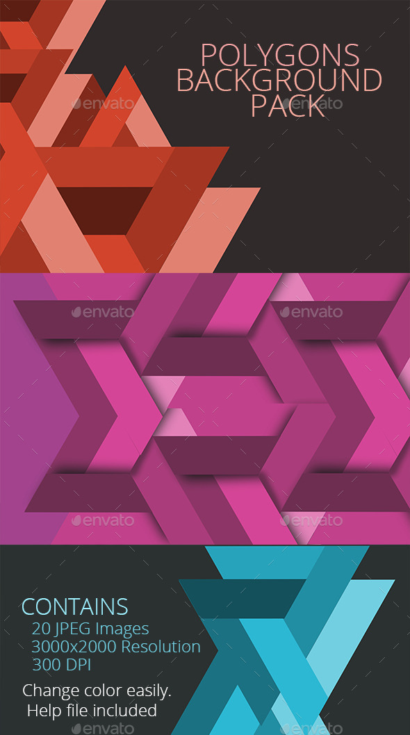 Polygon backgrounds pack - Backgrounds Graphics