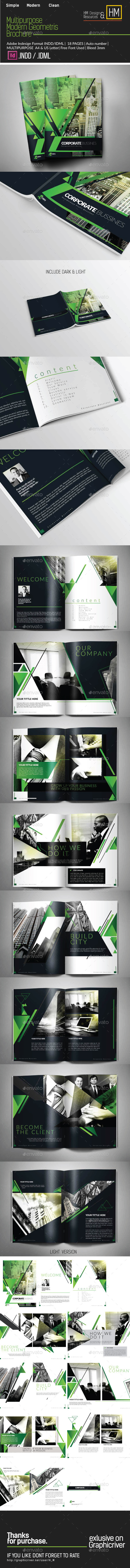 Multipurpose Modern Corporate Geometris Potrait - Corporate Brochures