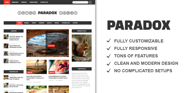 Paradox Premium WordPress Magazine