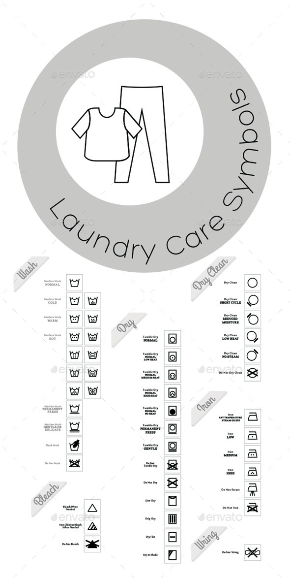 Laundry Care Icons - Objects Icons