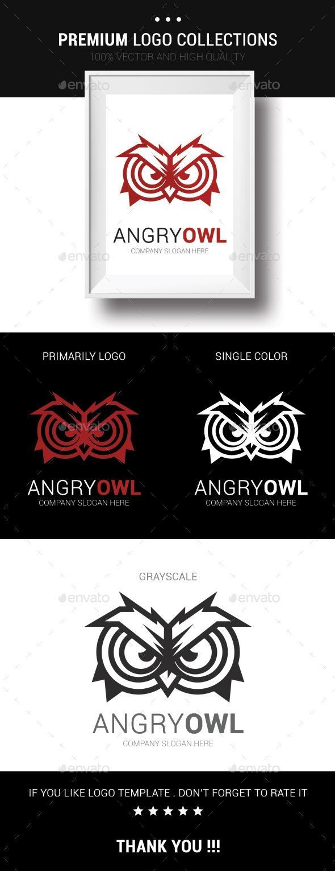 Angry Owl - Animals Logo Templates