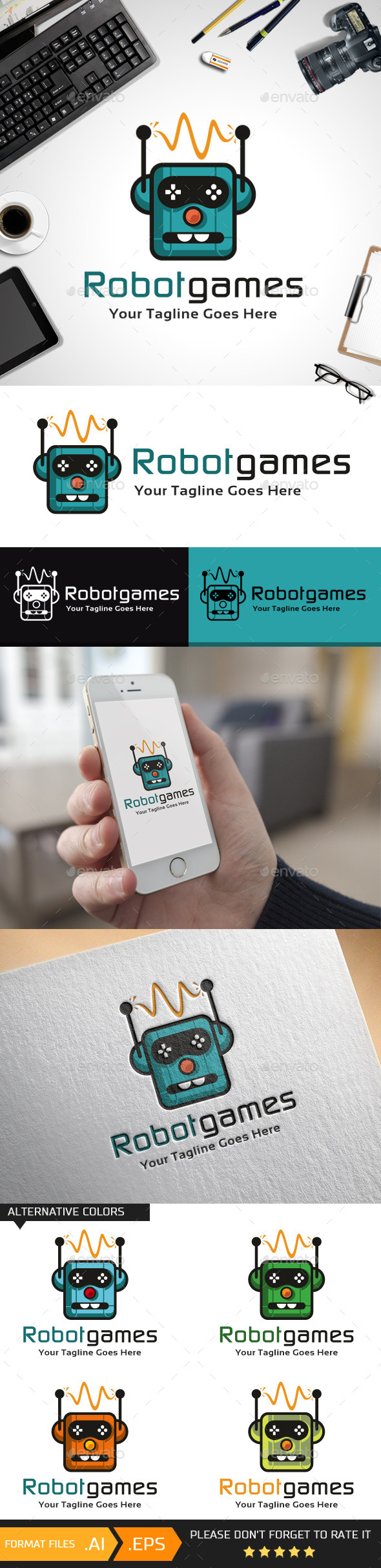 Robot Games Logo Template - Objects Logo Templates