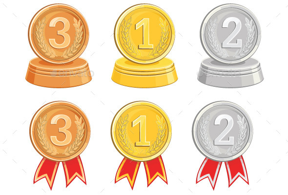 Gold, Bronze and Silver Medals - Miscellaneous Characters