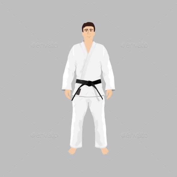 Men in Judo Sportwear - Sports/Activity Conceptual
