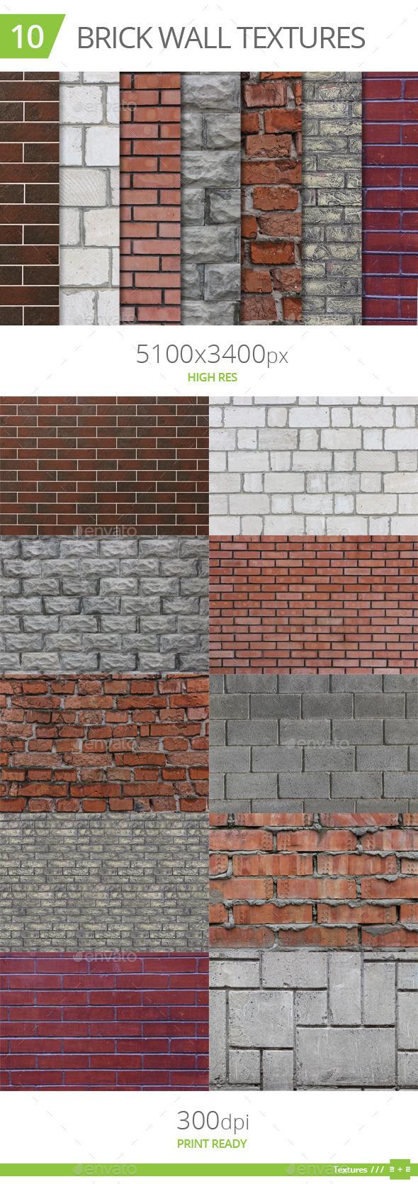 10 Brick Wall Textures - Stone Textures