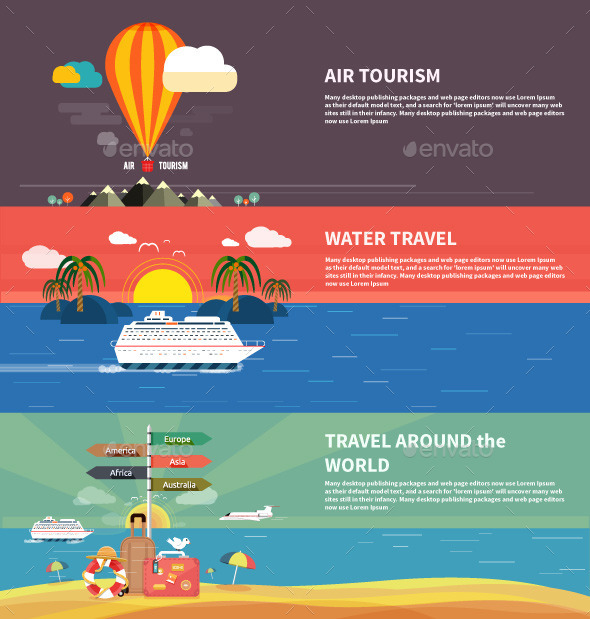 Traveling and Planning Summer Vacation - Travel Conceptual