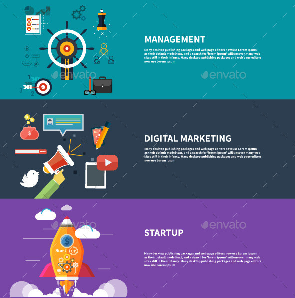 Management Digital Marketing Srartup Planning - Concepts Business