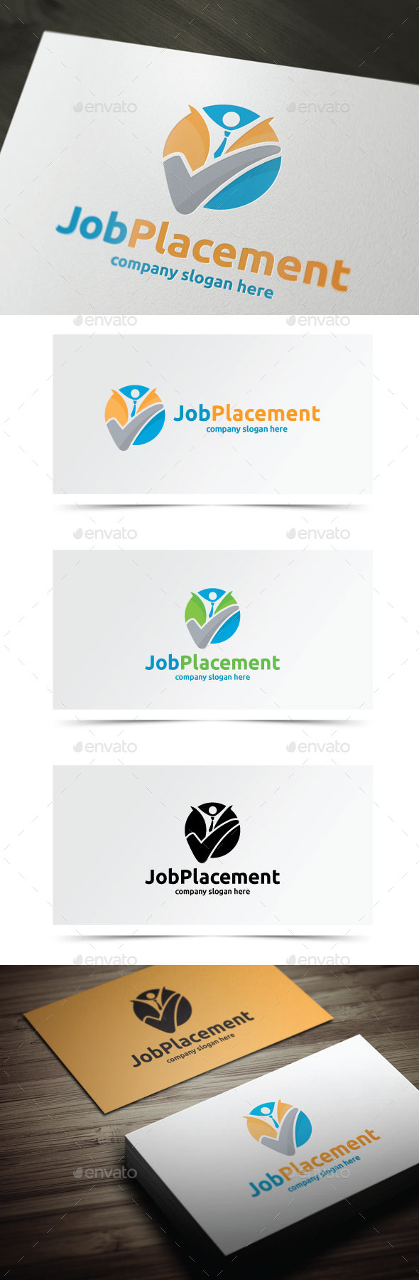 Job Placement  - Humans Logo Templates
