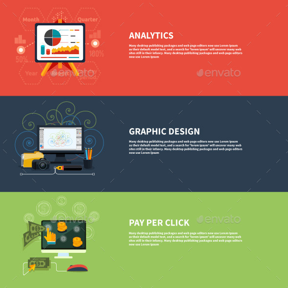 Icons for Analytics Graphic and Pay Per Click - Concepts Business