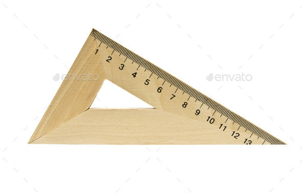 wooden triangle - Stock Photo - Images