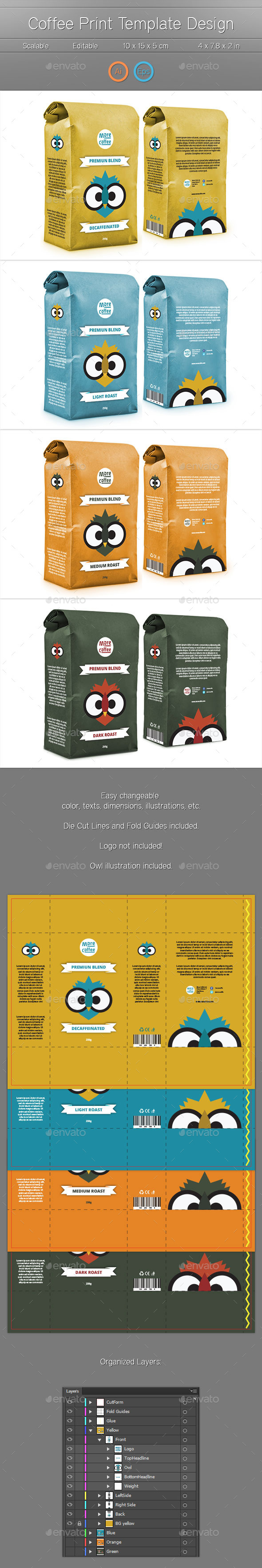 Package Print Template - Packaging Print Templates