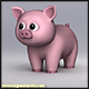 Cartoony Pig - 3DOcean Item for Sale
