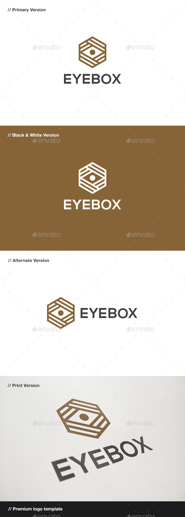 Eye Box Logo - Symbols Logo Templates