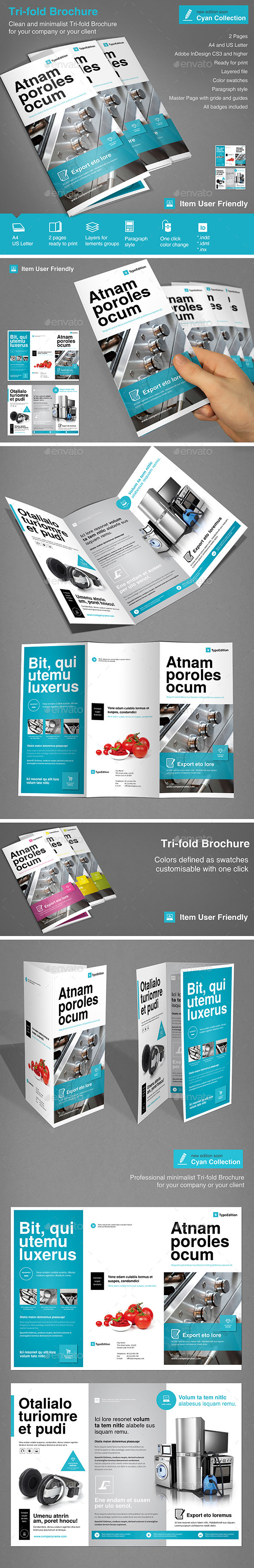 Tri-fold Corporate Vol.2 - Informational Brochures