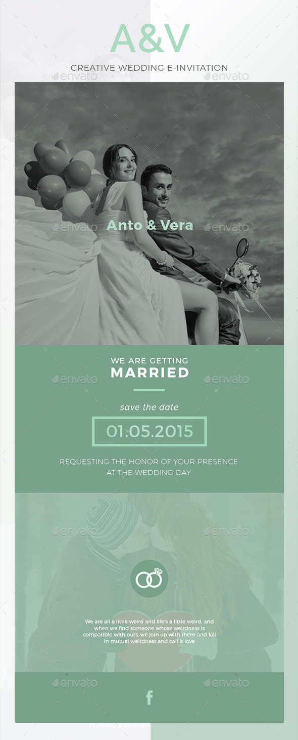 AV Wedding E-Invitation - E-newsletters Web Elements