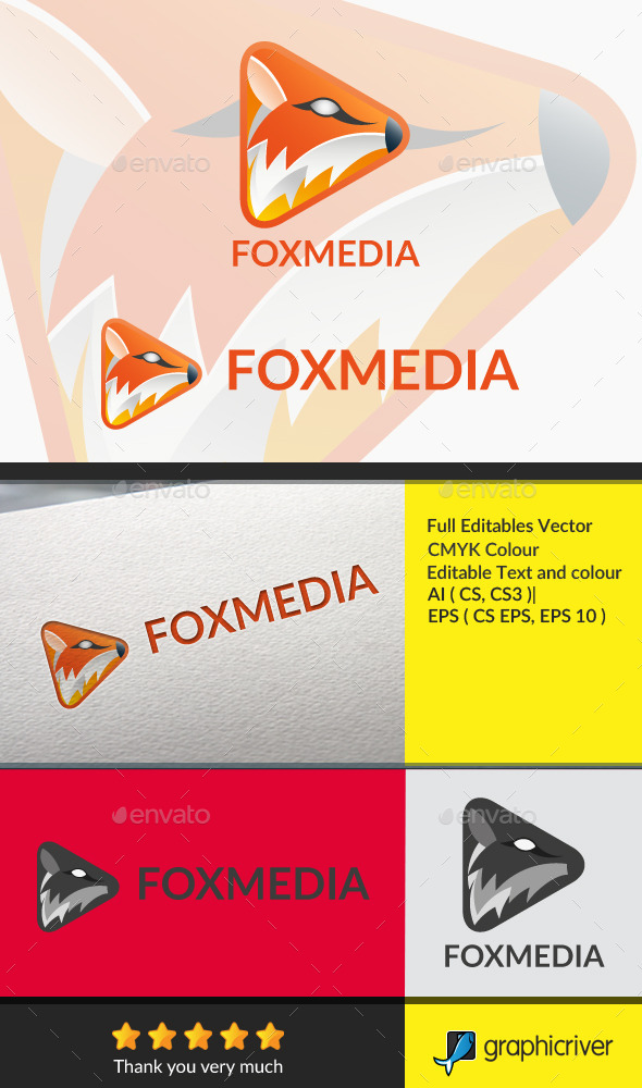 Fox Media - Animals Logo Templates