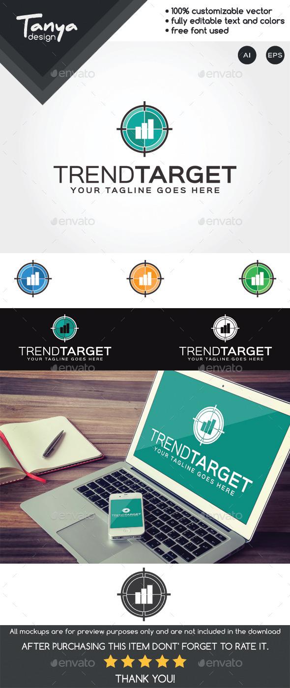 Trend Target Logo Template - Symbols Logo Templates