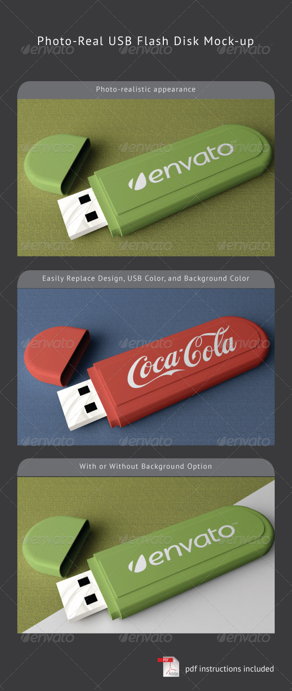 USB Flash Disk Mock-Up - Miscellaneous Packaging