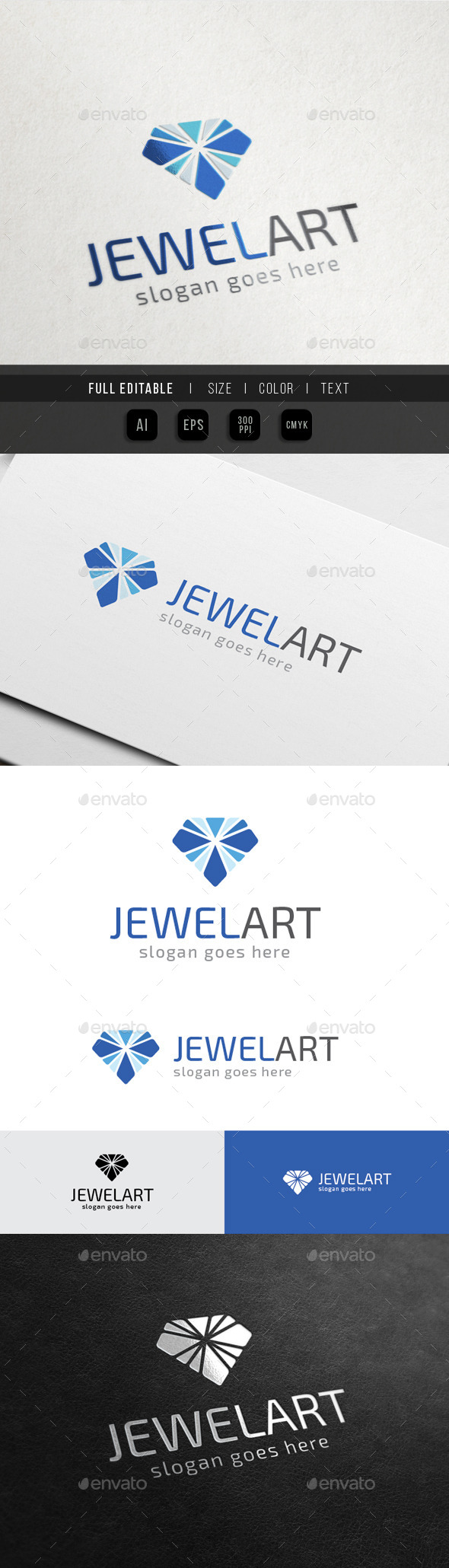 Jewel Art - Diamond Media - Objects Logo Templates