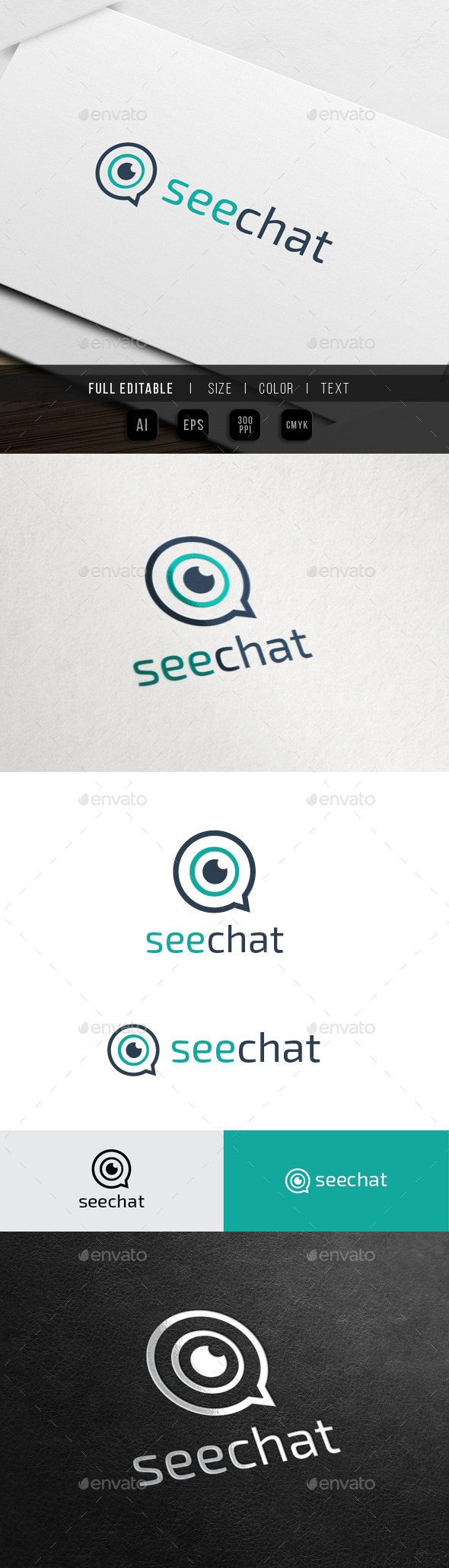 See and Chat - Group - Symbols Logo Templates