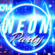 Neon Party Event Facebook Timeline Cover - GraphicRiver Item for Sale
