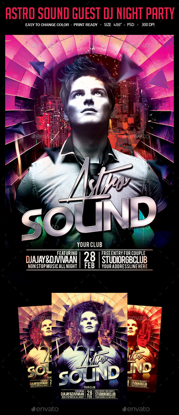 Astro Sound Guest Dj Night Party - Clubs & Parties Events