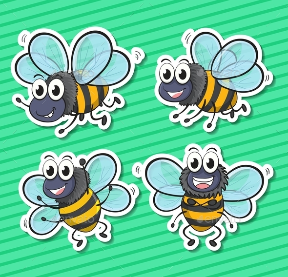 Bees - Animals Characters