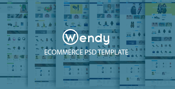 Wendy – Ecommerce PSD Template