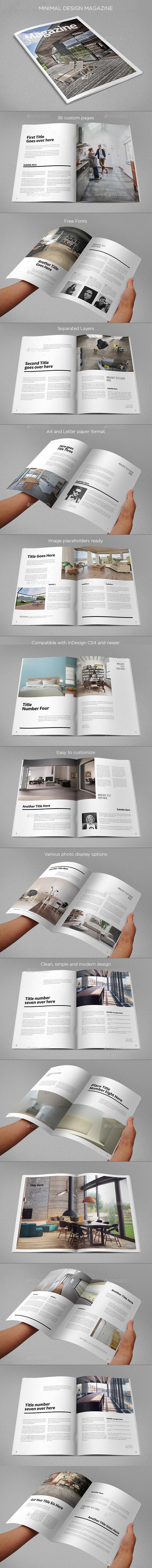 Minimal Design Magazine - Brochures Print Templates