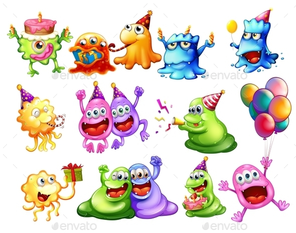 Monster Party - Animals Characters