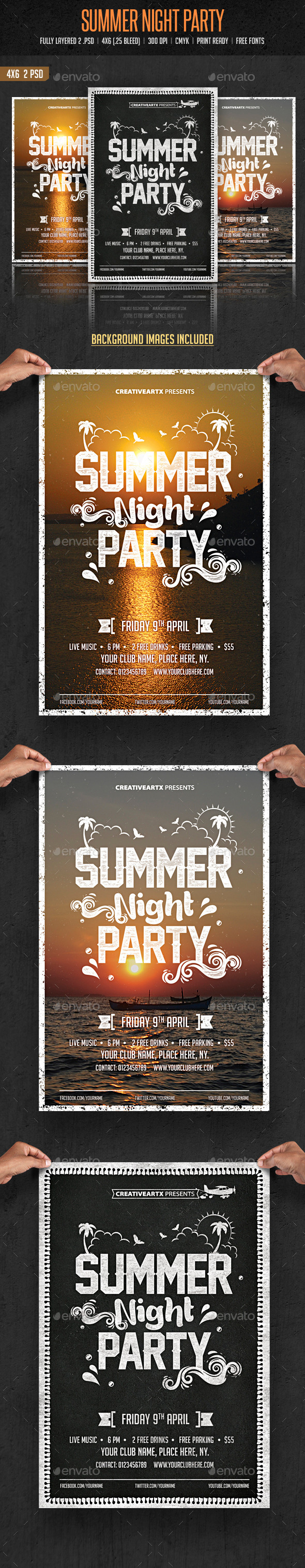 Summer Night Party - Clubs & Parties Events