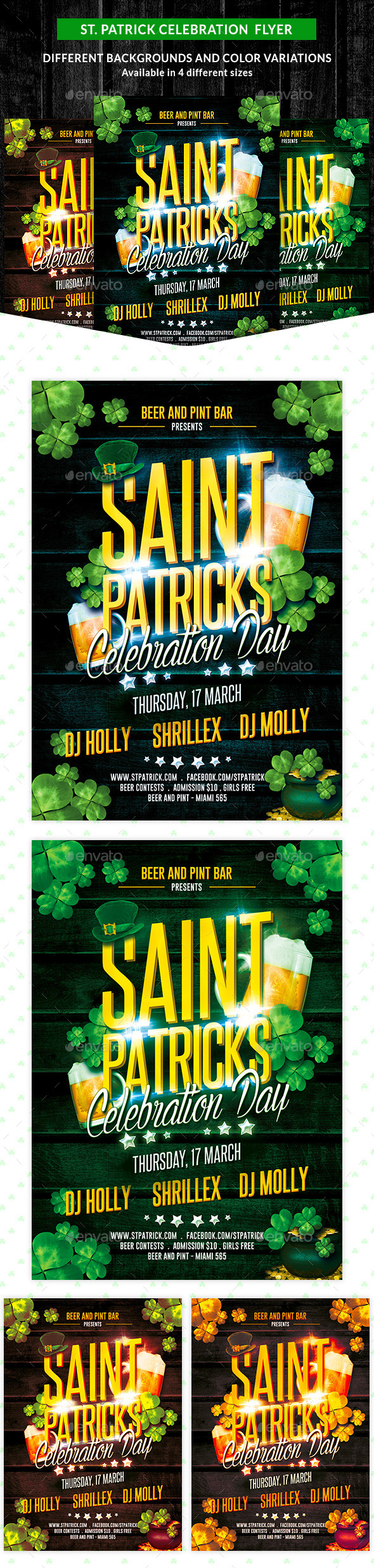St. Patricks Celebration Party Flyer - Clubs & Parties Events