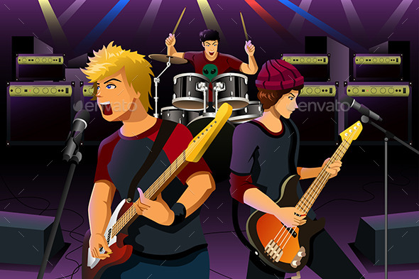 Teenagers in a Rock Band - People Characters
