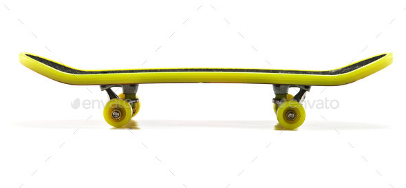 yellow skateboard - Stock Photo - Images
