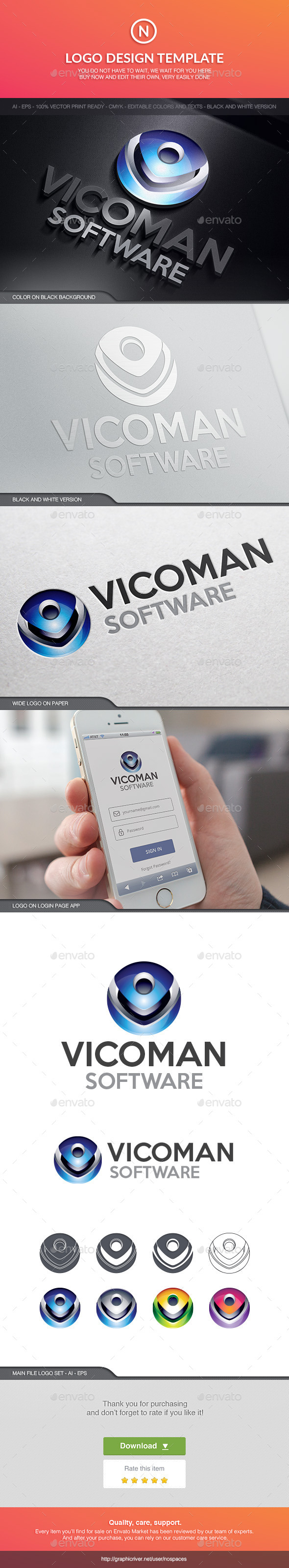 Vicoman Software - Abstract Logo Templates