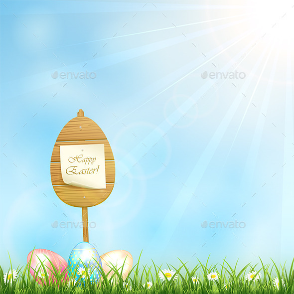 Easter Background - Man-made Objects Objects